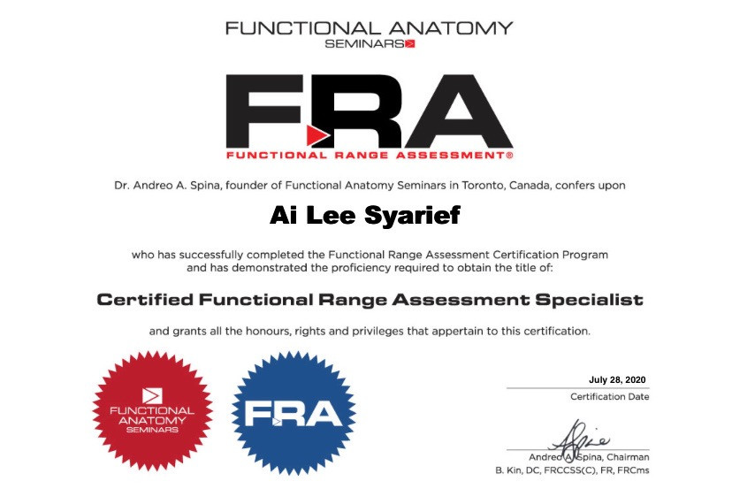 Certified Functional Range Assessment Specialist