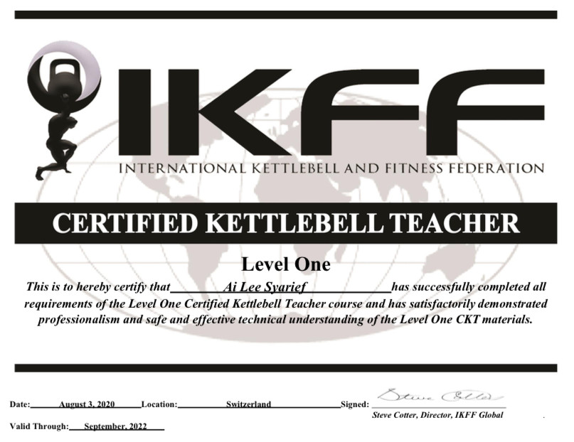 Certified Kettlebell Teacher Level 1