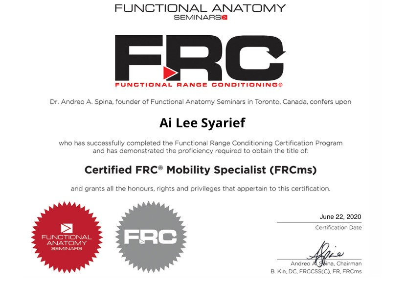 Certified FRC® Mobility Specialist