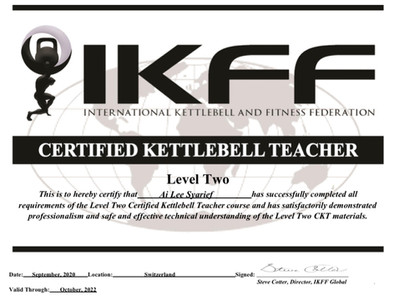 Certified Kettlebell Teacher