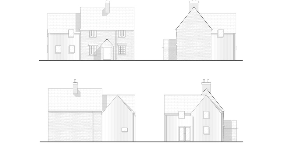 Proposed two-storey extension elevations