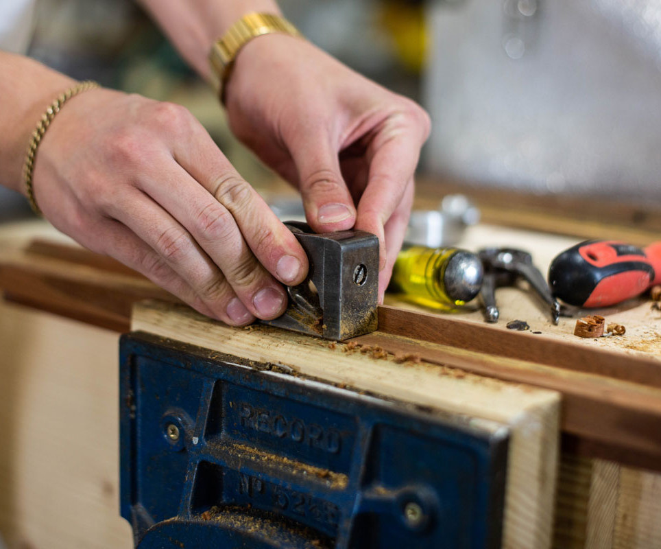 Restoring the hardwood clerestory windows