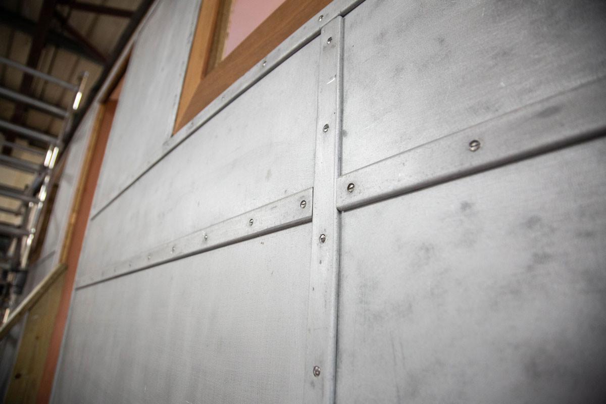 re-fixing the aluminium trims