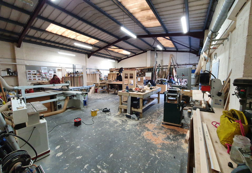 The workshop in full flow making components for this wagon