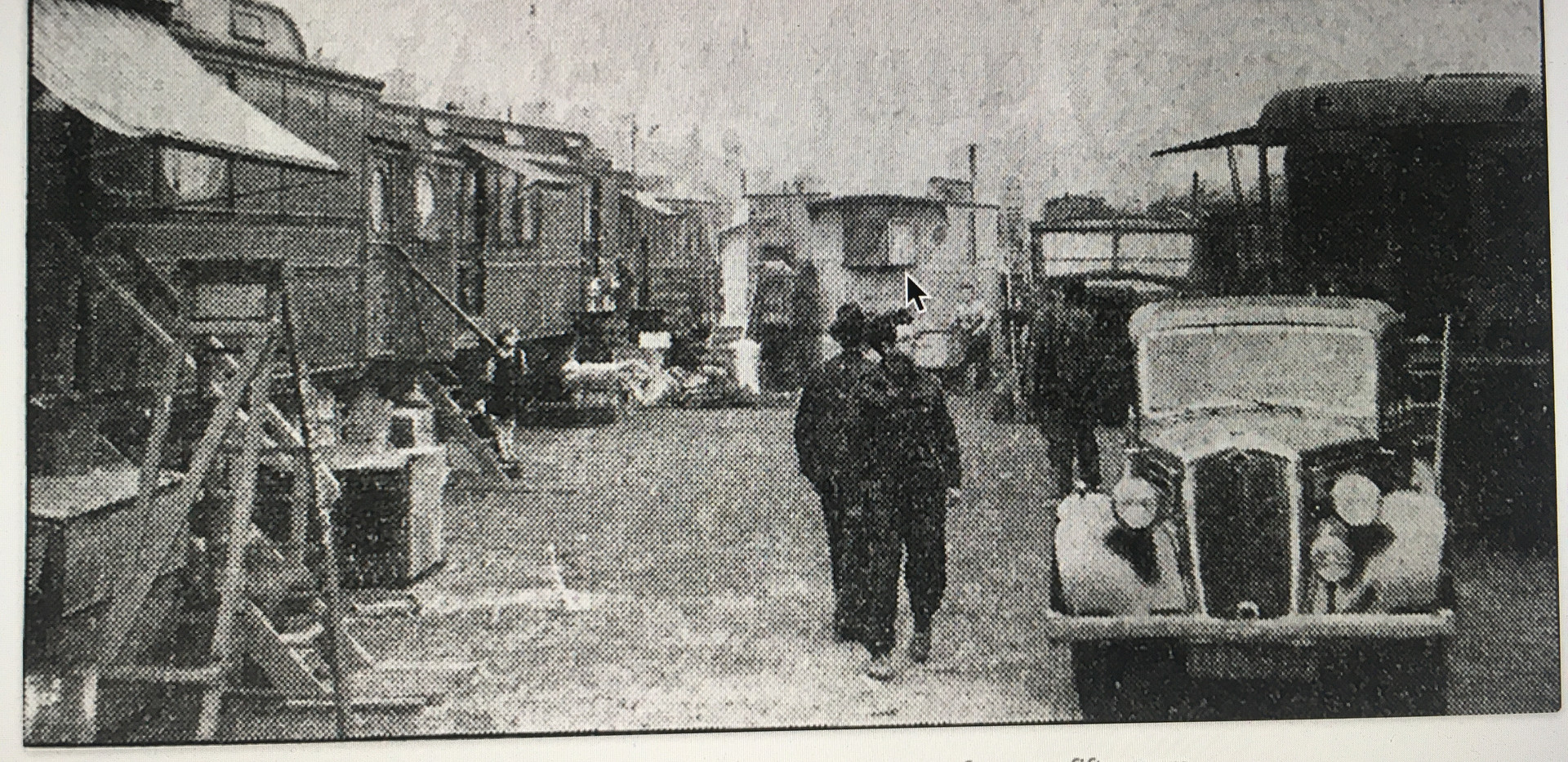 Harry Gray's fair in winter storage - is this our wagon in the background?