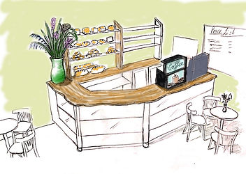 Proposed counter for Swanage Bakery, Dorset.
