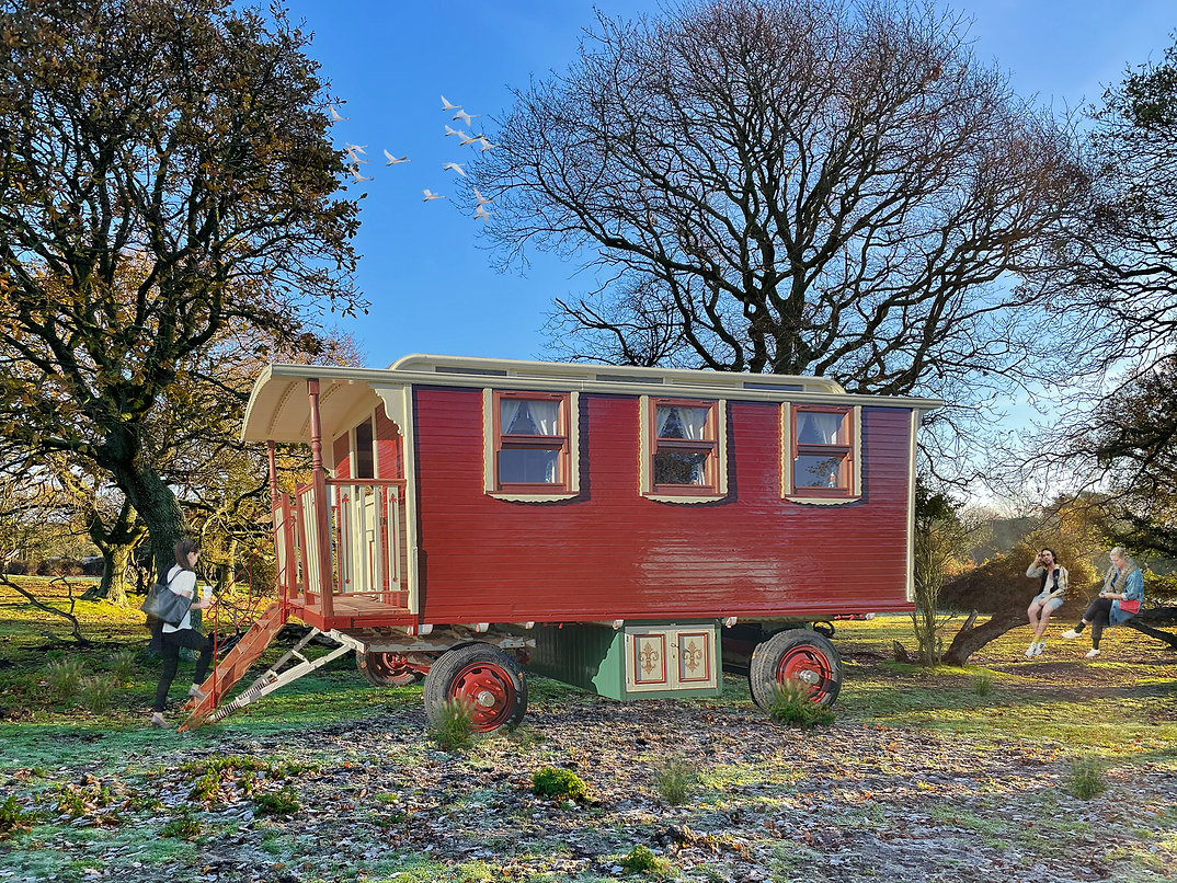 Showman's Wagon Montage for proposed glamping site
