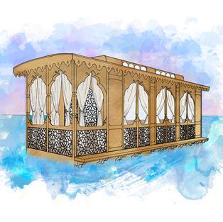 Kashmiri Houseboats