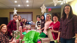 Gift Wrapping at Florence Crittenton
