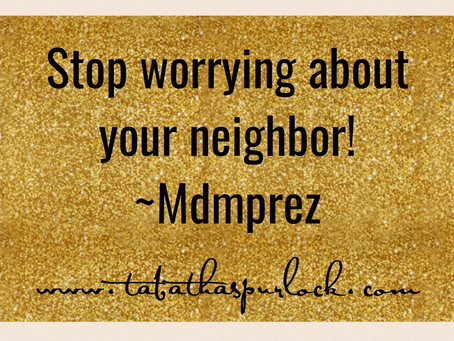 Worry 'bout Yourself!
