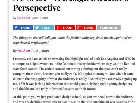 NY vs LA – A Design Director's Perspective