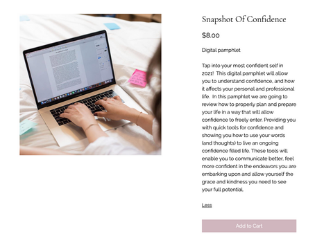 Snapshot Of Confidence- Digital Pamphlet, now available!