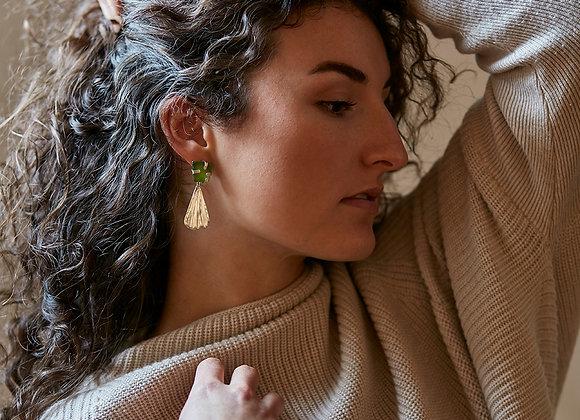 sea glass shell earrings