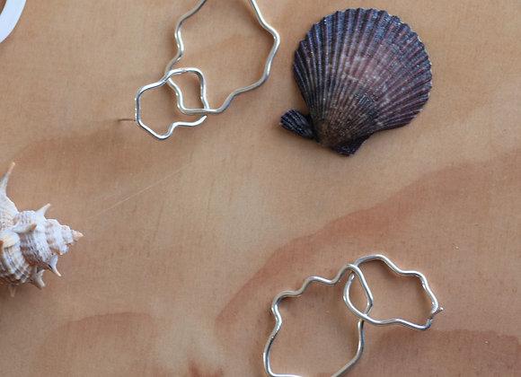 abstract rock pool earrings