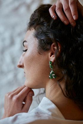 Mermaid Sea Glass Earrings