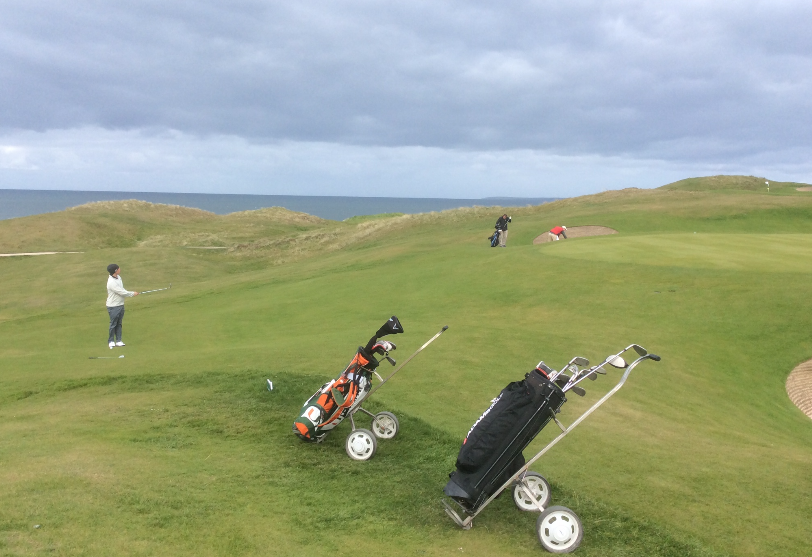 Second green's steep face