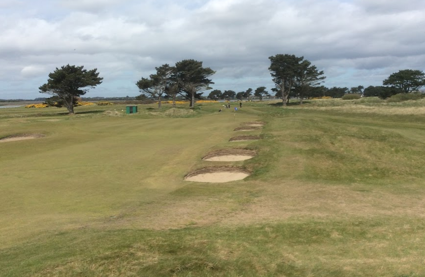 Pot bunkers leading to 13th green