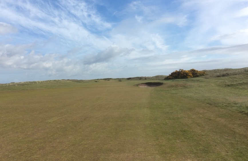 Sixth fairway
