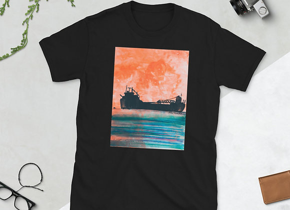 Sunset Freighter Short-Sleeve Unisex T-Shirt