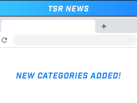New Categories Added to TSR Blog