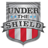 under the shield logo