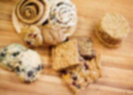 Brownies, bars, cookies, scones, muffins and cinnamon rolls