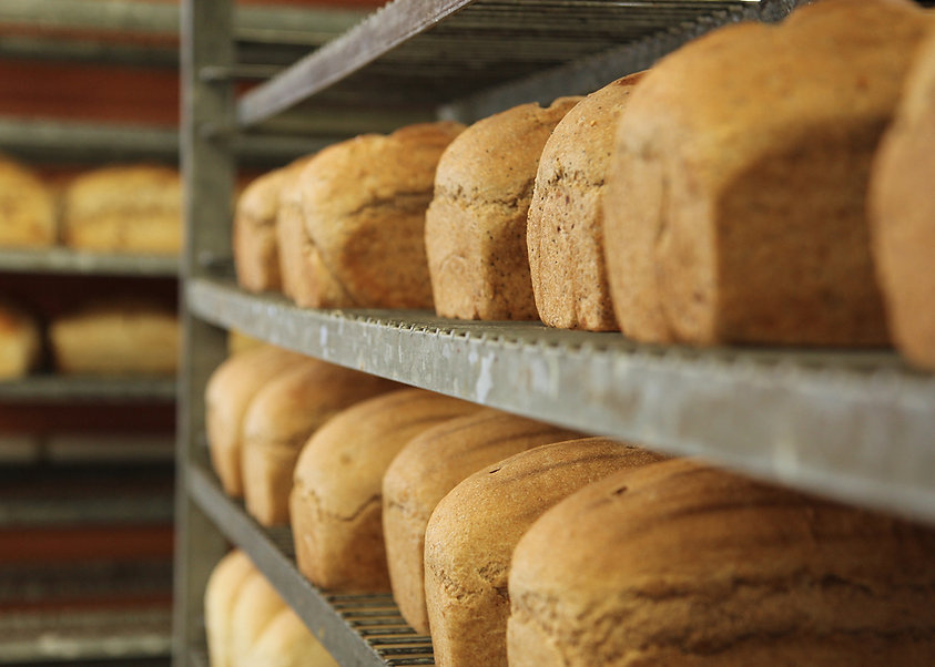 Fresh bread baked on site daily