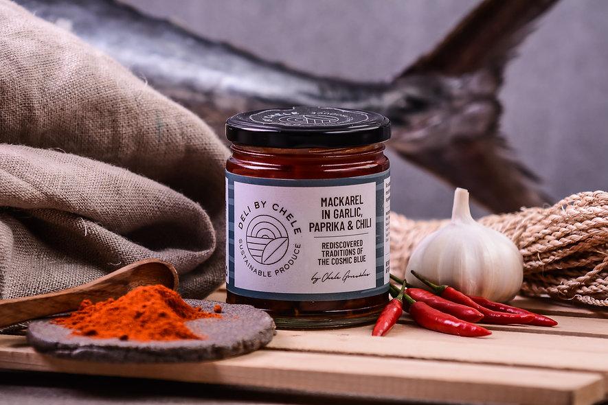 Mackarel in Garlic, Paprika and Chili