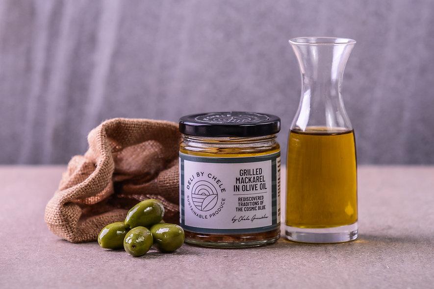 Grilled Mackarel in Olive Oil