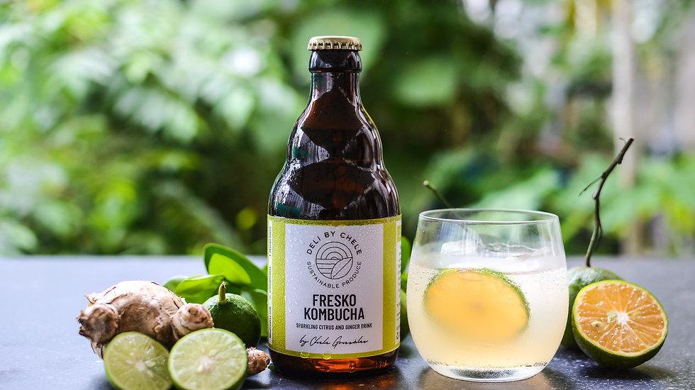 FRESKO KOMBUCHA - Sparkling Citrus & Ginger Drink