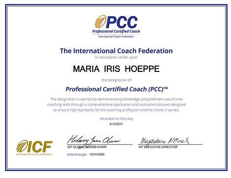 diploma icf pcc maria iris hoeppe mental