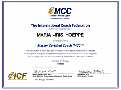 Coach MCC Romania ICF Maria Iris Hoeppe.