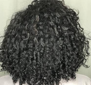 deva curl transformation, beginning to restore curls