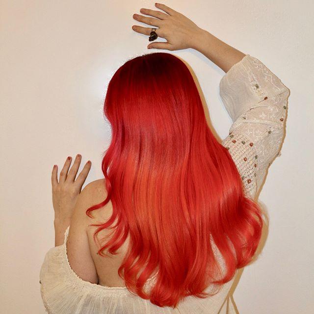 bright copper orange hair color