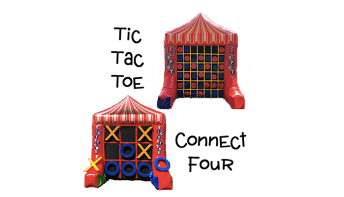 Tic Tac Toe & Connect 4 Inflatable
