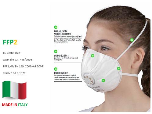 15ks STANDARD FFP2 respirátor BLS 129, s ventilkem