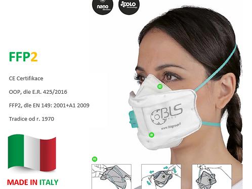 FFP2 respirátor BLS 829, s ventilkem, 20ks v bal.
