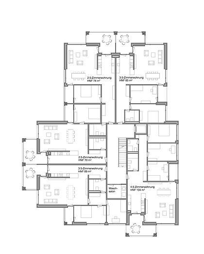 Martin Dubach Architekt und Katrin Gurtner Architektin gud Architekten Wohnhaus NeuhausenRegelgeschoss.png