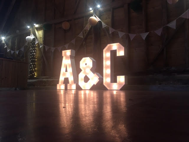 A&C initials Light Up Letters