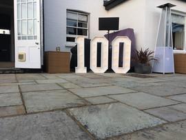 Big Number 100 Light up number