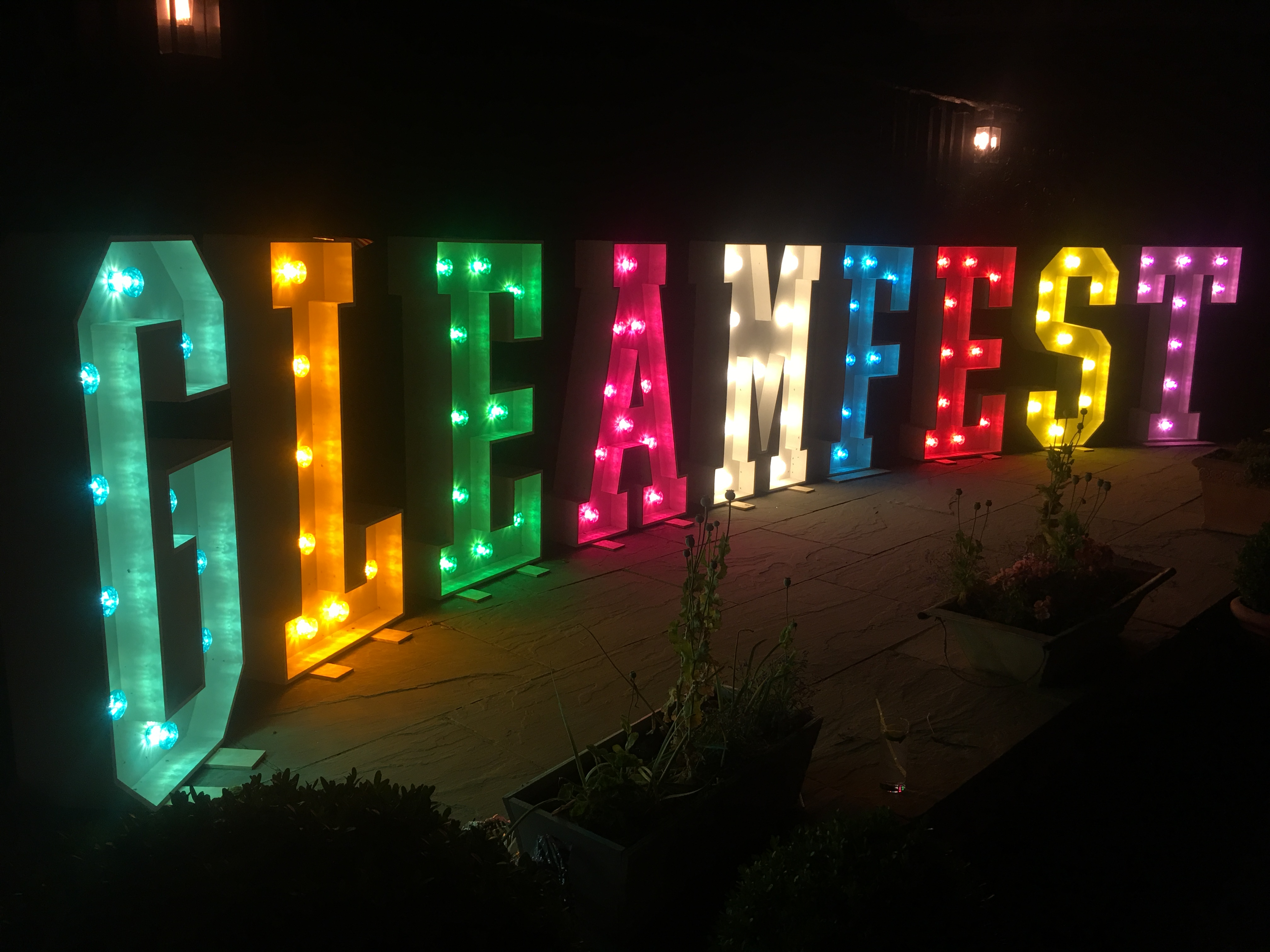 COLOURED LIGHT UP LETTERS
