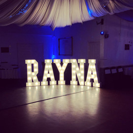 Birthday girls name in lights