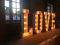 Light Up Wedding Letters