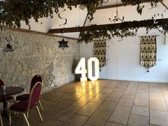 Big Number 40 Light up number