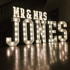 Light Up Letters 'MR & MRS JONES