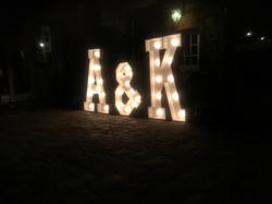 LIGHT UP INITIALS A&K