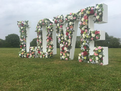 Floral Letters 'LOVE'