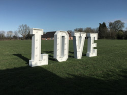 OUTDOOR LIGHT UP LOVE LETTERS