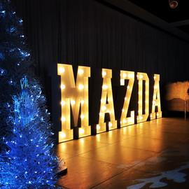 Light Up Letters 'MAZDA'