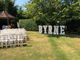 Light Up Letters 'MR & MRS Byrne'